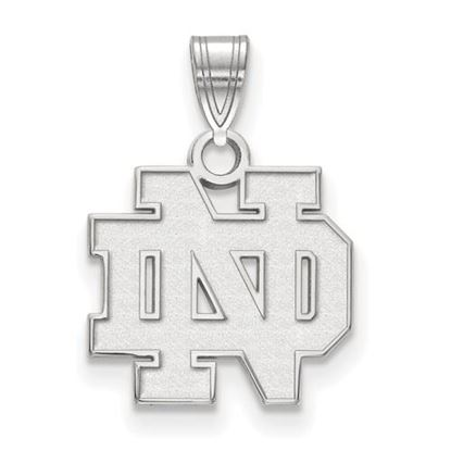 Picture of University of Notre Dame Fighting Irish Sterling Silver Small Pendant