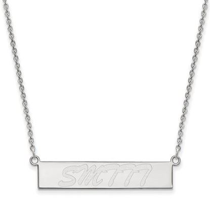 Picture of University of Southern Mississippi Golden Eagles Sterling Silver Small Bar Necklace
