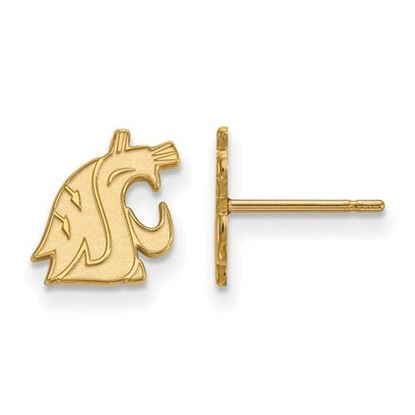 Picture of Washington State University Cougars Sterling Silver Gold Plated Extra Small Post Earrings
