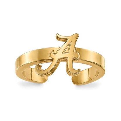 Alabama Crimson Tide Gold Plated Toe Ring
