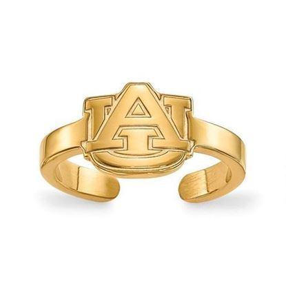 Auburn University Tigers Gold Plated Toe Ring