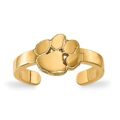 Clemson Tigers Gold Plated Toe Ring
