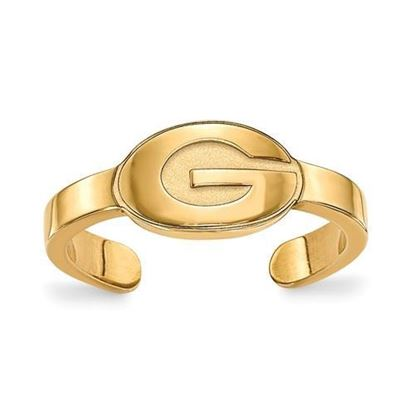 Georgia Bulldogs Gold Plated Toe Ring