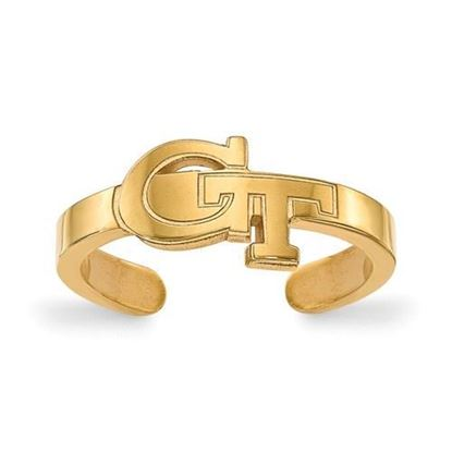 Georgia Tech Yellow Jackets Gold Plated Toe Ring