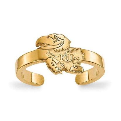 Kansas Jayhawks Gold Plated Toe Ring