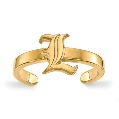Louisville Cardinals Gold Plated Toe Ring