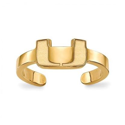 Miami Hurricanes Gold Plated Toe Ring
