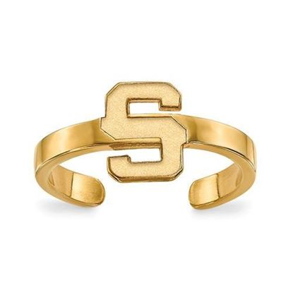 Michigan State Spartans Gold Plated Toe Ring