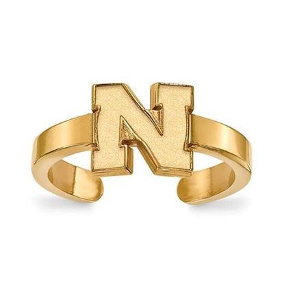 Nebraska Cornhuskers Gold Plated Toe Ring