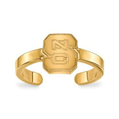 North Carolina State University Gold Plated Toe Ring