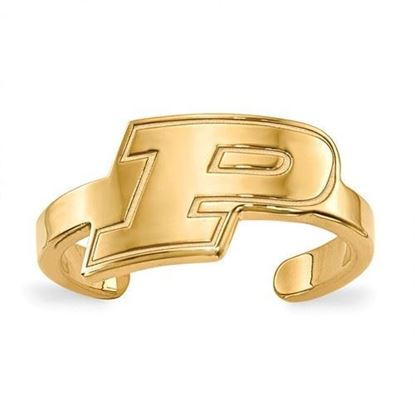 Purdue University Gold Plated Toe Ring