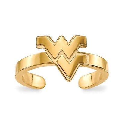 West Virginia Mountaineers Gold Plated Toe Ring