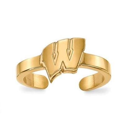 Wisconsin Badgers Gold Plated Toe Ring