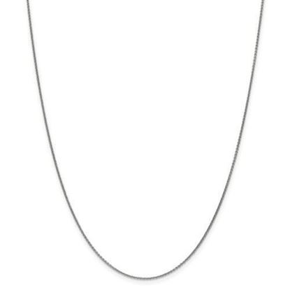 18 Inch 14k White Gold Round Cable Chain