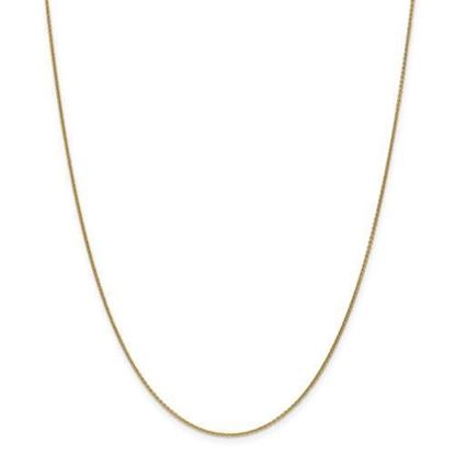 18 Inch 14k Yellow Gold Cable Chain