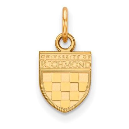 University of Richmond Sterling Silver Gold Plated Extra Small Pendant