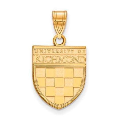 University of Richmond Sterling Silver Gold Plated Medium Pendant