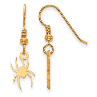 University of Richmond Sterling Silver Gold Plated Small Wire Dangle Earrings