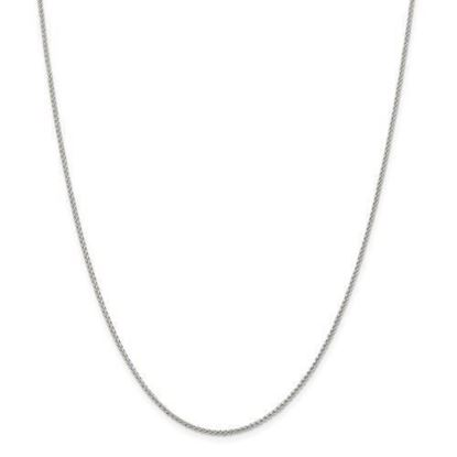 Sterling Silver 1.50mm Round Spiga Chain Necklace