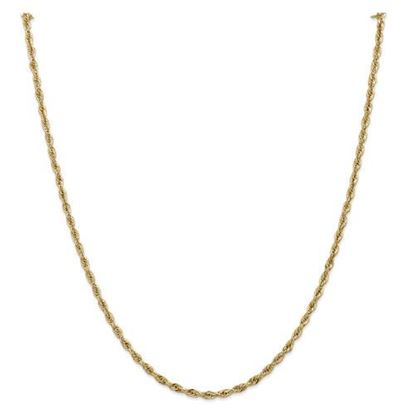 Picture of 10k Yellow Gold 2.8mm Semi-Solid Rope Chain Necklace