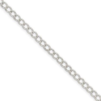 Picture of 9 inch Sterling Silver 3mm Half Round Wire Curb Chain Anklet