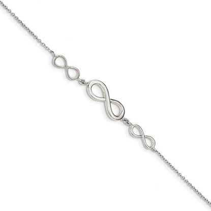 Picture of Sterling Silver Polished Infinity Symbol Bracelet