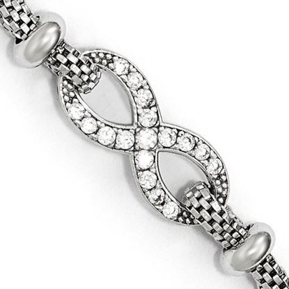 Picture of 6.5 inch Leslie's Sterling Silver CZ Infinity Bracelet with 1.5 inch extension