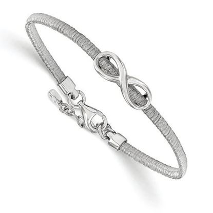 Picture of 7 inch Leslie's Sterling Silver infinity Bracelet with 1 inch extension