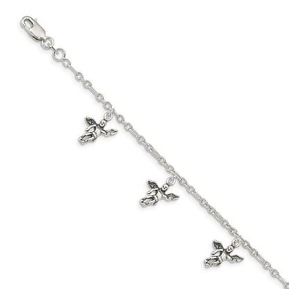 Picture of 7 inch Sterling Silver Angel Bracelet