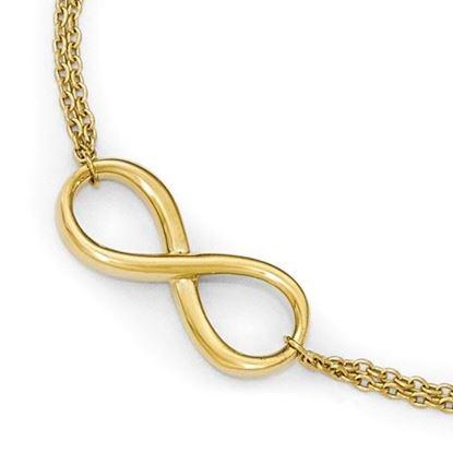 Picture of 7.5 inch Leslie's 10k Polished Infinity Bracelet