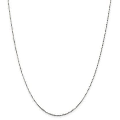 Picture of Sterling Silver 1.1mm Diamond Cut Rope Chain Necklace