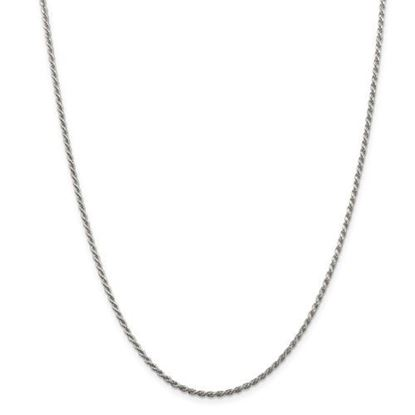 Picture of Sterling Silver 1.85mm Diamond Cut Rope Chain Necklace