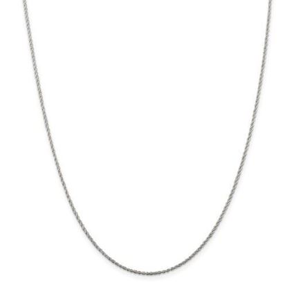 Picture of Sterling Silver 1.3mm Loose Rope Chain Necklace