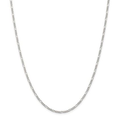 Picture of Sterling Silver 2.25mm Figaro Chain Necklace