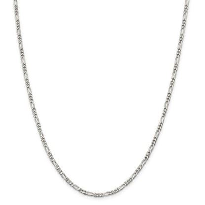 Picture of Sterling Silver 2.85mm Figaro Chain Necklace