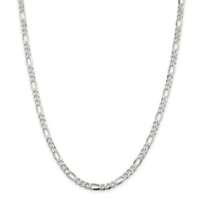 Picture of Sterling Silver 4.5mm Figaro Chain Necklace