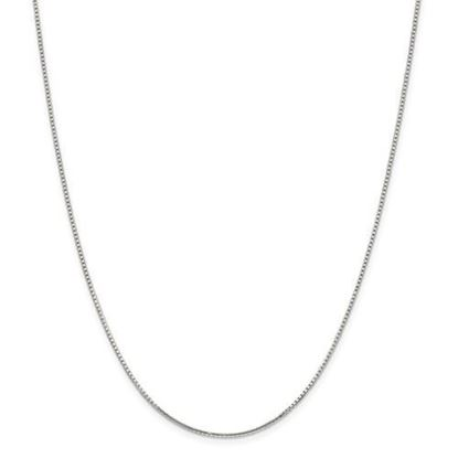 Picture of Sterling Silver 1.25mm 8 Side Diamond Cut Box Chain Necklace