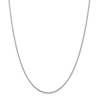 Picture of Sterling Silver 1.35mm 8 Side Diamond Cut Box Chain Necklace