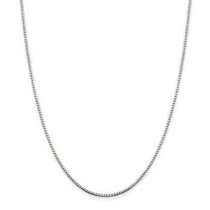 Picture of Sterling Silver 1.5mm 8 Sided Diamond Cut Box Chain Necklace