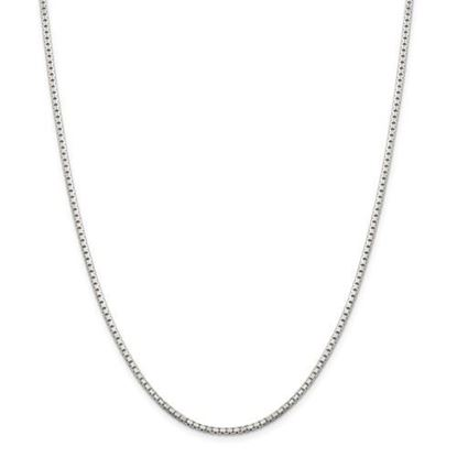 Picture of Sterling Silver 2.0mm Diamond Cut Box Chain Necklace