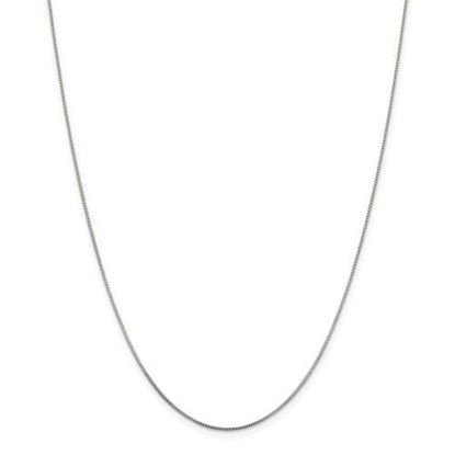 Picture of Sterling Silver Rhodium Plated .6mm Box Chain Necklace