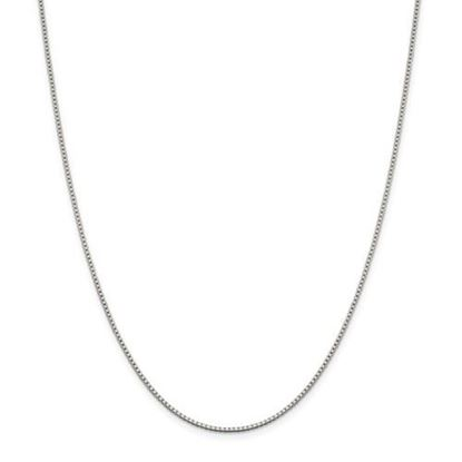 Picture of Sterling Silver Rhodium-plated 1.4mm Box Chain Necklace