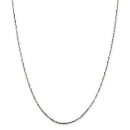 Picture of Sterling Silver 1.5mm Round Box Chain Necklace