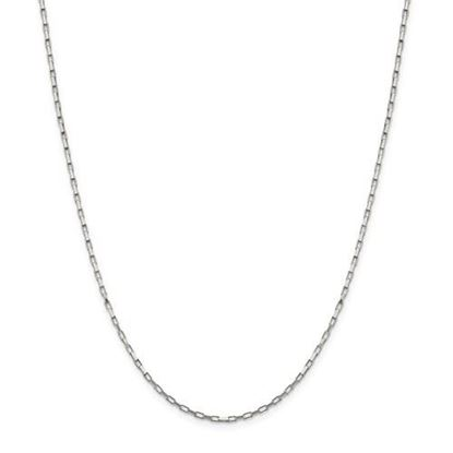 Picture of Sterling Silver 1.65mm Elongated Box Chain Necklace
