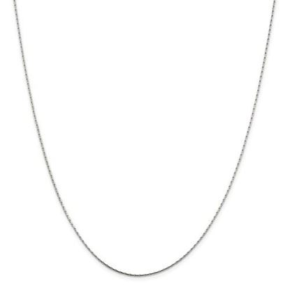 Picture of Sterling Silver 1mm Oval Box Chain Necklace