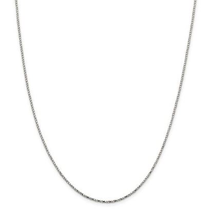 Picture of Sterling Silver 1.35mm Twisted Box Chain Necklace