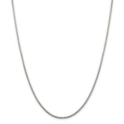 Picture of Sterling Silver 1.75mm Round Diamond Cut Fancy Box Chain Necklace