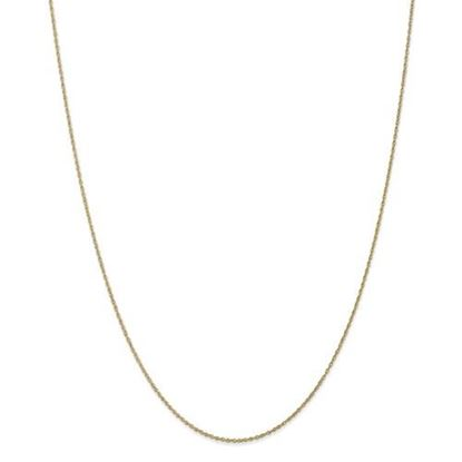 Picture of 10k Yellow Gold .8mm Lite-Baby Rope Chain Necklace