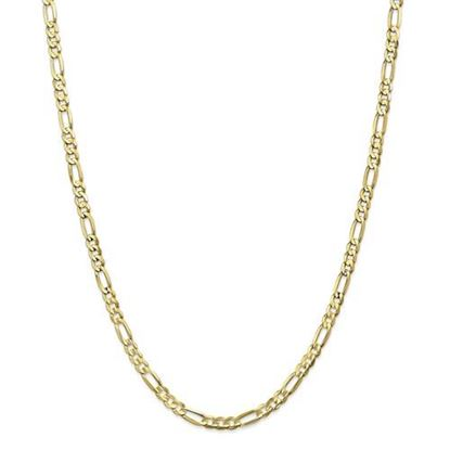 Picture of 10k Yellow Gold 4.5mm Light Concave Figaro Chain Necklace