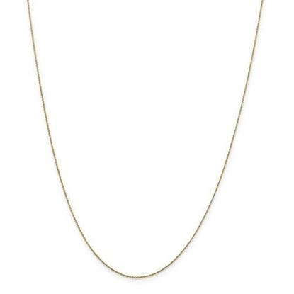 Picture of 10k Yellow Gold .6mm Solid Diamond Cut Cable Chain Necklace
